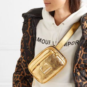 New Marc Jacobs Sport Metallic Leather Belt Bag